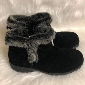 Khombu Faux Fur Ankle Thermolite Suede Boots